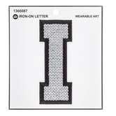Silver Sequin Iron-On Letter - I